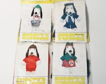 "Lot 4 Peanuts Snoopy's Wardrobe Fits 18"" Plush-  Scottish, Asian, German, Sailor"