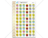 Popcorn Stickers for planner, calendar! Functional planner stickers food sticker functional sticker movie sticker #SQ00277