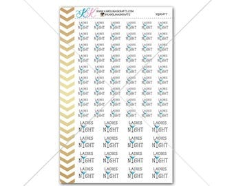 Ladies Night Stickers for planner, calendar! Functional planner stickers weekend sticker functional sticker drinks sticker #SQ00477