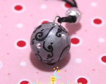 Pregnancy's Bola Bulan bola Xylophone grey arabesque swarovski AB rhinestones