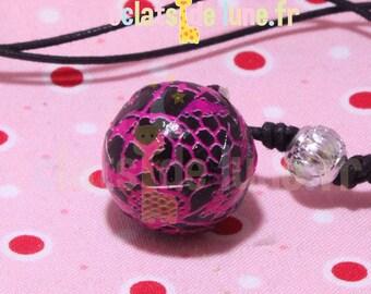 Genuine pregnancy's Bola FishNet pattern pink on black background