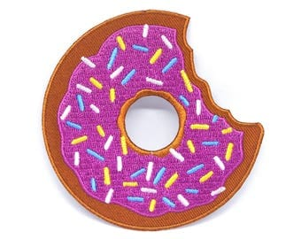 Eat Fast Doughnut Embroidered Patch