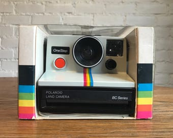 Working Polaroid SX-70 OneStep Rainbow - BC