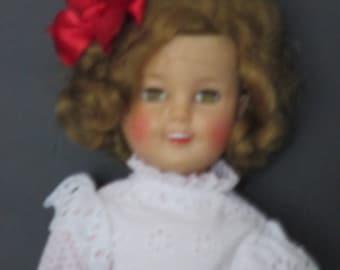 "Shirley Temple 17"" vinyl doll"