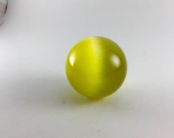 Vintage Yellow Optic Fiber Sphere