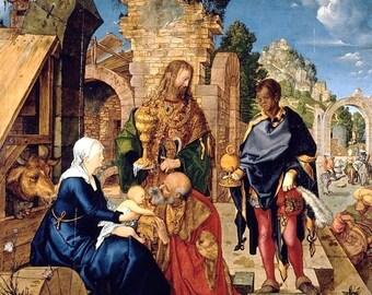 """Laminated placemat Dürer """"Adoration of the Magi"""""""