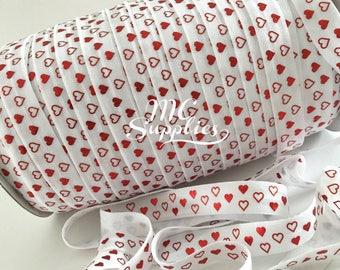 2 yds,St. Valentine elastic,foe elastic,elastic,headband supplies,elastic for headband,elastic for hair ties,elastic by the yard,137