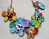 "MAKE TO ORDER, Polymer clay necklace, ""Fun Spring"", unique, handmade, original design"