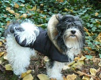 Custom Designed Stylish Dog Coats And Boots / Warm Dog Coats / Fur Hooded Dog Coat
