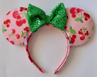 Sweet as a Cherry Minnie Mouse Ears QUICKSHIP