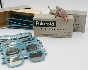 Lot Of Vintage Polaroid Black-And-White 3D-Viewing Glasses