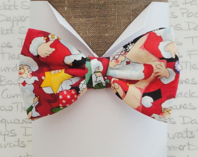 Featured listing image: Santa pre tied bow tie, bow ties for men
