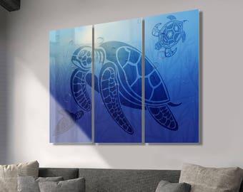 Turtle Wall Art Metal Print Decor Ready to Hang