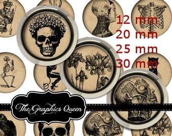 "80 % off Summer Sale 12 mm, 20mm, 30 mm, 1 inch Vintage Halloween II Digital Bottlecap Bottle Cap Images 1 "" Round Circles Digital Collage S"