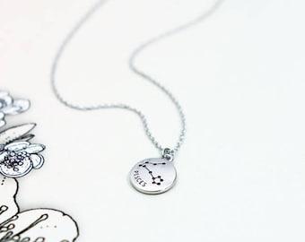 constellation necklace/zodiac necklace/zodiac constellation necklace/birth sign necklace/astrology necklace