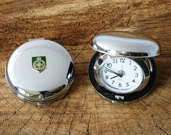 Royal Green Jackets Flip Up Alarm Clock Portable Quartz Military Gift BGK19
