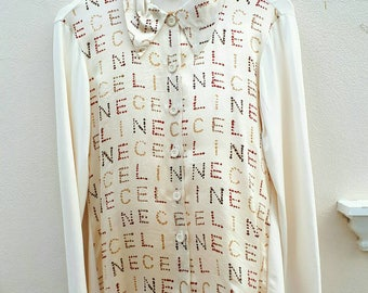 Celine Print Shirt Made in Italy Size 38