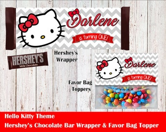 Hello Kitty Hershey's Wrapper and Favor Bag Toppers