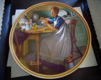 edwin m knowles working in the kitchen 1983 collectors plate