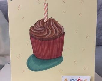 Cupcake Wish Birthday Card