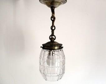 Vintage Lantern, Porch Lantern, Porch Light, Vintage French Lantern, Lantern Lamp, Vintage Lighting, Glass Lantern