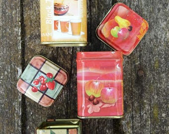 tin box mini tin boxes set vintage tee boxes small metal containers tins decortive collection colorful design