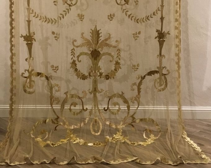 Classic gold curtain