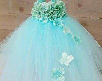 Aqua Flowergirl dress. Blue flower girl dress. Aqua tutu dress. Girls tutu dress. Toddler dress. Aqua blue tutu dress. Aqua tutu dress. Aqua