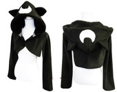 Moon cat cosplay costume hoodie (shrugstyle) inspired by Sailormoon Luna, anime, manga, neko, japan, goth, witchy, wiccan, gothic, witch