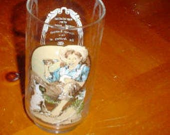 antique reproduction original painting by Norman Rockwell coca cola glass