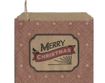"""45 pouches or paper """"Merry Christmas"""" (""""Merry Christmas"""") - Christmas packaging"""