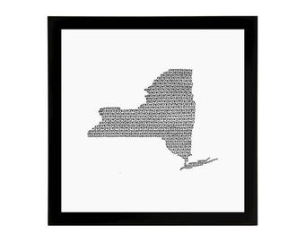 New York State Love Art Print