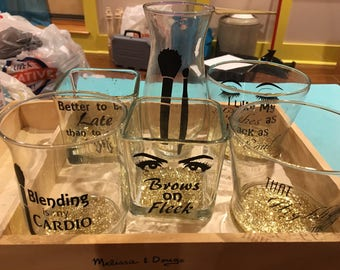 Three makeup jars