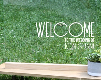 Custom Acrylic Wedding Welcome Sign, Personalized Wedding Welcome Sign, Minimalist Wedding Sign, Modern wedding signs, art deco wedding