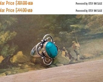 Holiday SALE 85 % OFF Turquoise Size 6.5 Ring Gemstone. 925 Sterling  Silver SALE