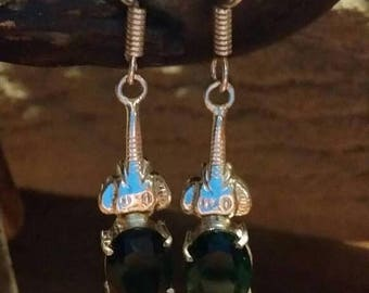 Holiday SALE 85 % OFF Tourmaline Earrings .925 Sterling Silver Gemstone