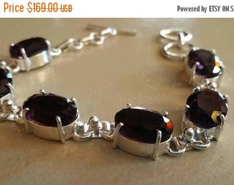 Holiday SALE 85 % OFF Amethyst   Bracelet Gemstone 925 Sterling Silver
