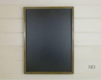 Large blackboard / chalkboard - Handmade. Dark Aged Chateau Grey frame.