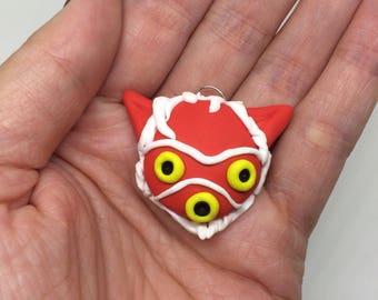 San Mask / Wolf Princess Mask Charm