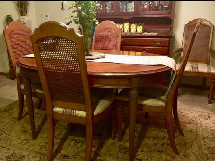 Esperanto Drexel Dining Room Set 1960 S 6 Chairs 3