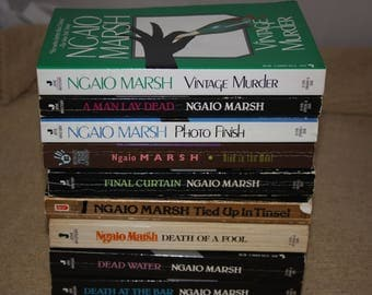 9 Ngaio Marsh books / Free shipping