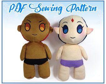Chibi Human Plush PDF Sewing Pattern (Easy-Intermediate)