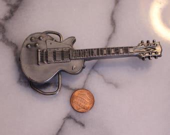 Vintage Bergamot Guitar Belt Buckle Made in USA, 1981 Bergamot Brass Works