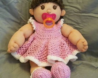 Soft sculptured sock doll