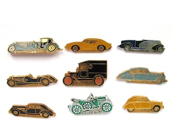 Retro Automobiles, Badges, Pick from set, Car, Vintage collectible badge, Soviet Vintage Pin, Soviet Union, Made in USSR