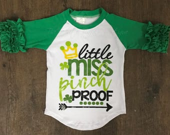 Little Miss Pinch Proof St Patricks Day shirt. FREE SHIPPING!!