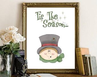 Tis the Season Home Décor Art Print 8x10 Printable Download 017n