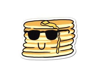 Pancakes Sticker, Laptop Sticker, Car Sticker, Bumper Sticker, Vinyl Sticker, Cute Food, Funny Food, Cute Breakfast, Skateboard Sticker