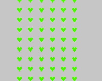 Plate 54 54 c green heart shaped stikers