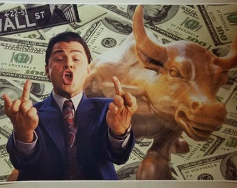"""The Wolf Of Wall Street GIANT WIDE 36""""  x 24 """" Movie Scene Poster Leo Money Man cave Flag"""